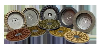 Mole a tazza metalliche e resinoidi per molatrici rettilinee